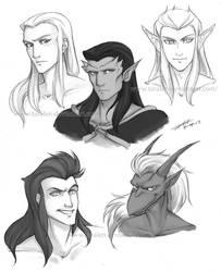 Gargoyles Bust Doodles by Taralen