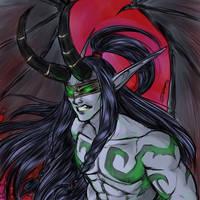 Illidan Warcraft III ver by Taralen