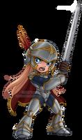 A Shining Little Knight by Taralen