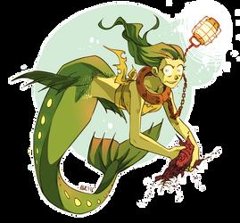 Wannabe Viperfish Mermaid by Soap-Committee