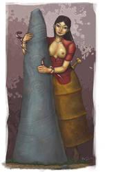Minoan Girl by umbrafox