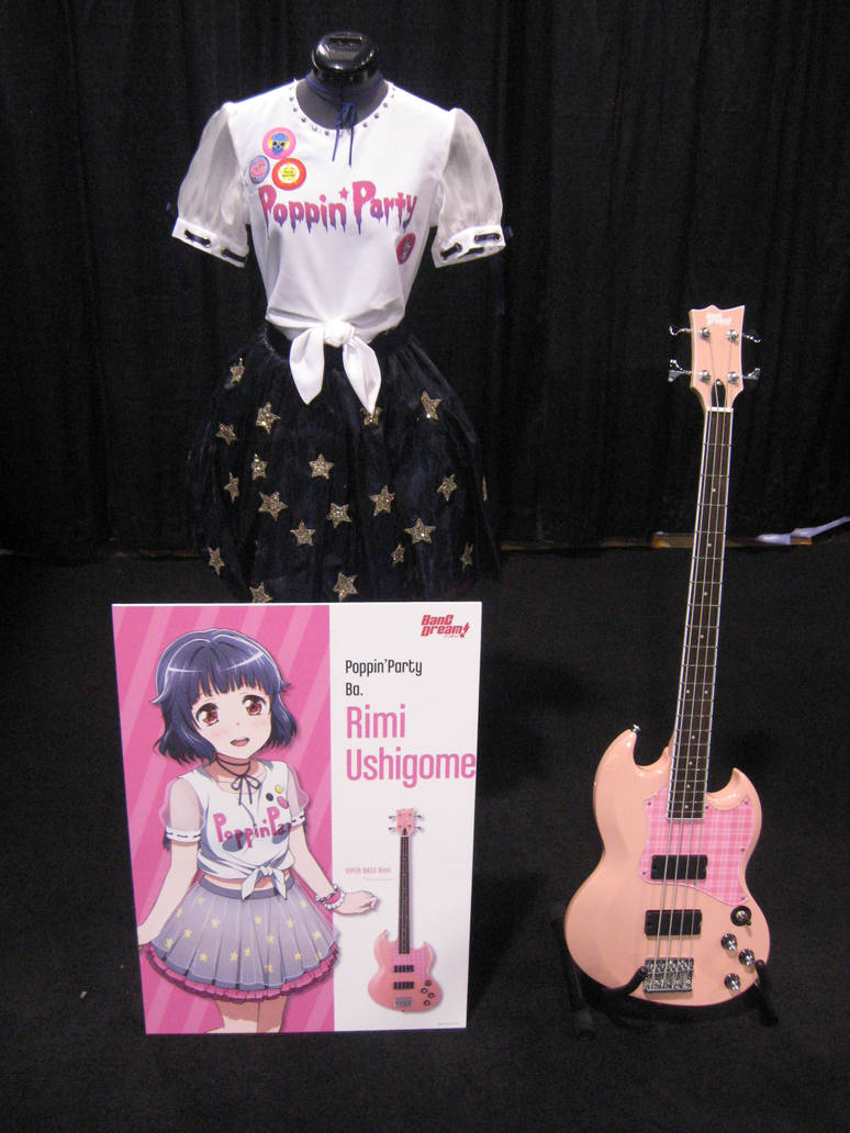 Bang Dream Girls Rimi Ushigome Guitar by granturismomh