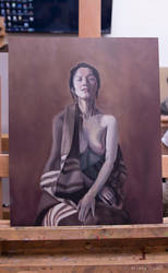 Oil paint study (copy of The dust-laden memory) by Prista-Darkjavel