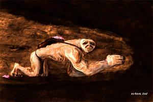 mole-rat-man by Ryoishen