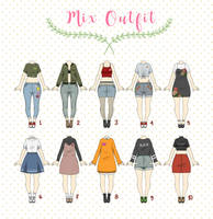(CLOSED) Casual Outfit Adopts by Rosariy