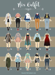 (OPEN 1/15) Casual Outfit Adopts 11 by Rosariy
