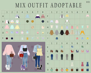 (OPEN 79/120) MIX outfits 01 - Adoptable by Rosariy