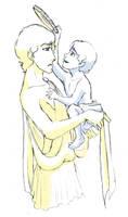 Gk Pan: Babysitting Duty by trixy-hobbitz