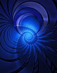 Bending blue twirl by vagabondvagrant