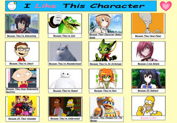 I Like These Characters Meme by CatFan180