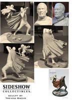 Yoda vs Dooku statue by TrevorGrove