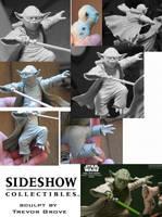 Yoda vs Dooku statue-yoda by TrevorGrove