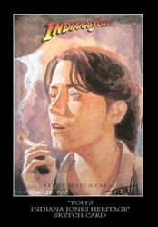 Sketch Card-Indiana Jones 21 by TrevorGrove