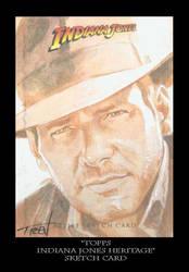 Sketch Card-Indiana Jones 25 by TrevorGrove