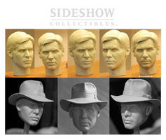 Indiana Jones head by TrevorGrove