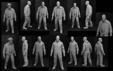 Walter White Figures by TrevorGrove