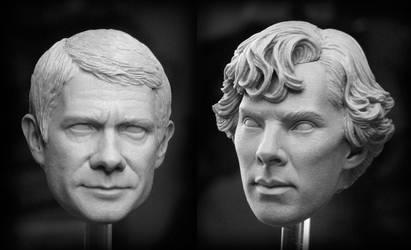Sherlock and Watson by TrevorGrove