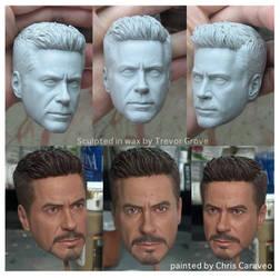 Robert Downey Jr. Iron Man 1:4 by TrevorGrove