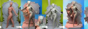 WORK-IN-PROGRESS series: Batgirl by TrevorGrove