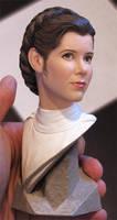 Leia Organa Bust by TrevorGrove