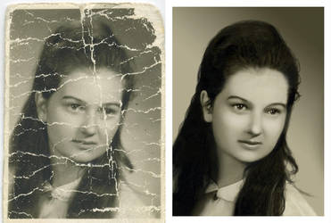 Photo retouching, restoration by popChar