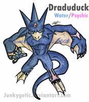 Golduck Evolution fakemon by junkygetic