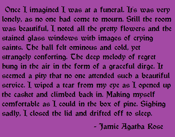 My lonely funeral... by JamieAgathaRose