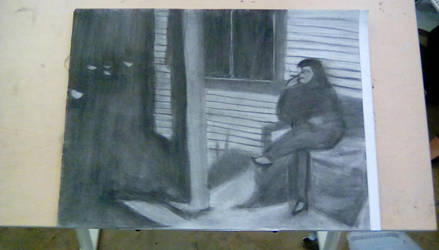 Dramatic Mood Drawing - Film Noir Inspired by JamieAgathaRose
