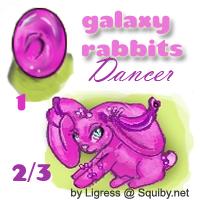 Galaxy Rabbits- Dancer -squiby by darkligress