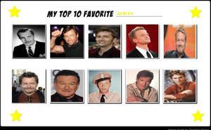 My top 10 actors by COnfessorRocksha