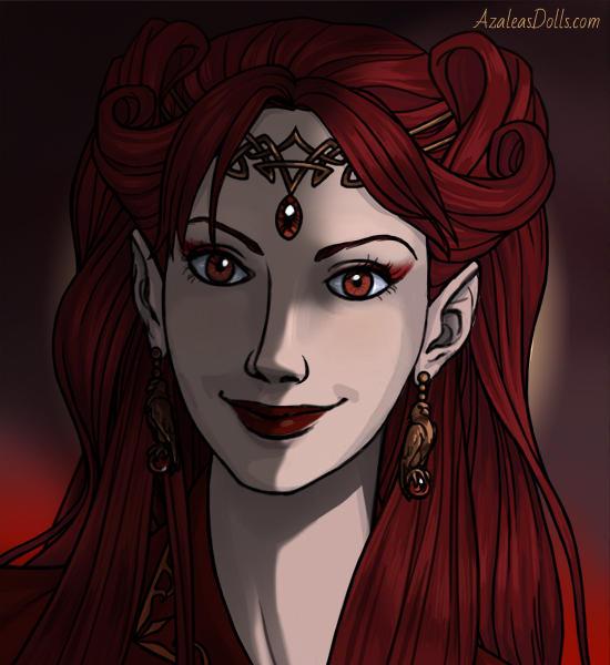 Scarlett War Good Omens by COnfessorRocksha