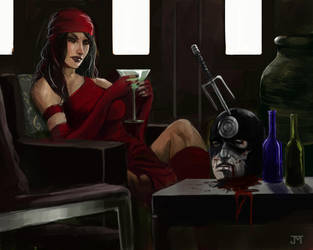 Elektra vs Bullseye by Manji675