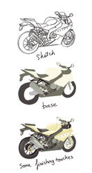 How I draw BMW S1000 RR by rindao317