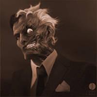 Harvey, Dented - Sepia by PhotoshopIsMyKung-Fu