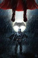 Batman v Superman by PhotoshopIsMyKung-Fu