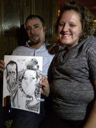 Party Caricature by macgarciacom