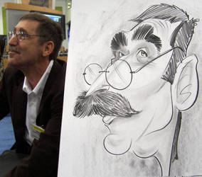 Moustache Caricature by macgarciacom