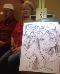 Christmas Event Caricature by macgarciacom
