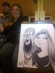 Party Caricatures by macgarciacom