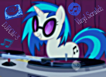 DJPON-3/ Vinyl Scratch by ponyboy2012