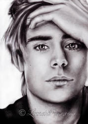 Zac Efron portrait. by LinnetRose