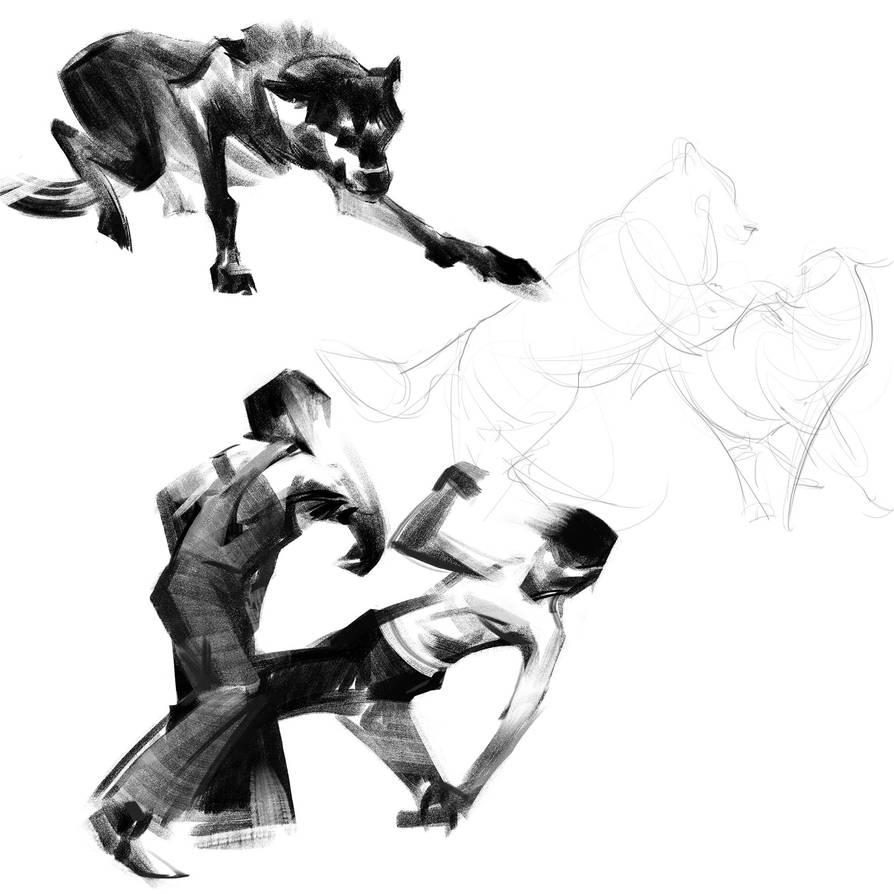 Dynamic sketches 03 by SunnyJu