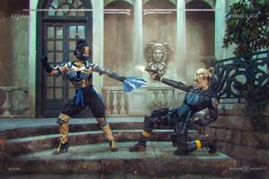 Kitana VS Cassie Cage FIGHT! by Anastasya01