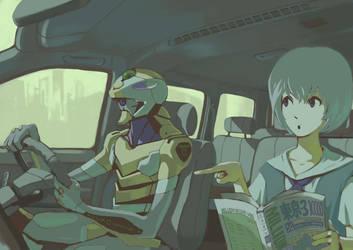 rei and eva zero by Tomiokajiro