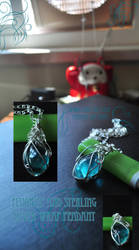Blue Fluorite Pendant by tanyquil