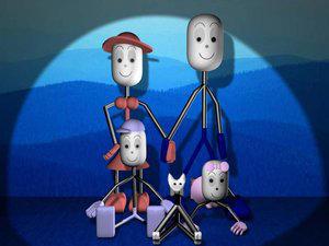 Stick Family Portrait by 3dConnect