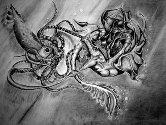 The Dark Sea battle by kkrex
