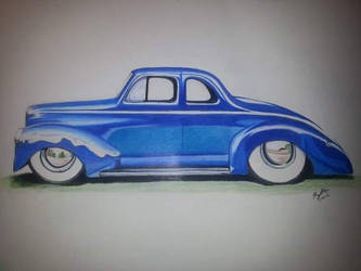 1940 ford coupe practice sketch. by kkrex