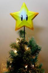 Mario Super Star Tree Topper Papercraft (Tutorial) by studioofmm