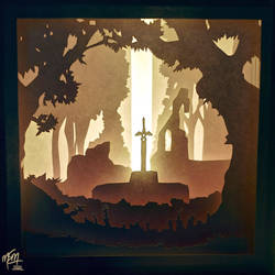 Master Sword Paper Lightbox (Tutorial) by studioofmm